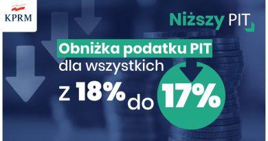 Od 1 października 17 proc. podatek PIT